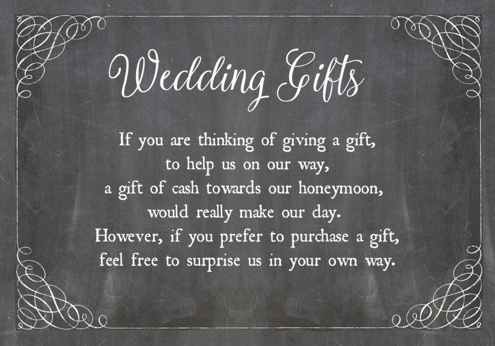 Chalkboard Wedding Gift Wish Card Chalkboards Wedding And Wedding