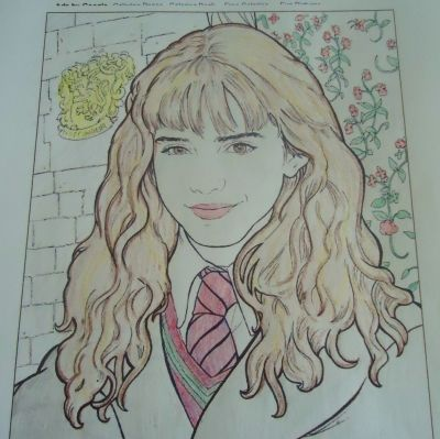 harry potter hermione granger coloring page  harry potter