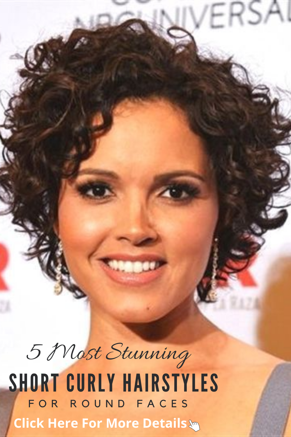 5 Most Stunning Short Curly Hairstyles For Round Faces In 2020 Curly Hair Styles Short Curly Haircuts Curly Hair Styles Naturally