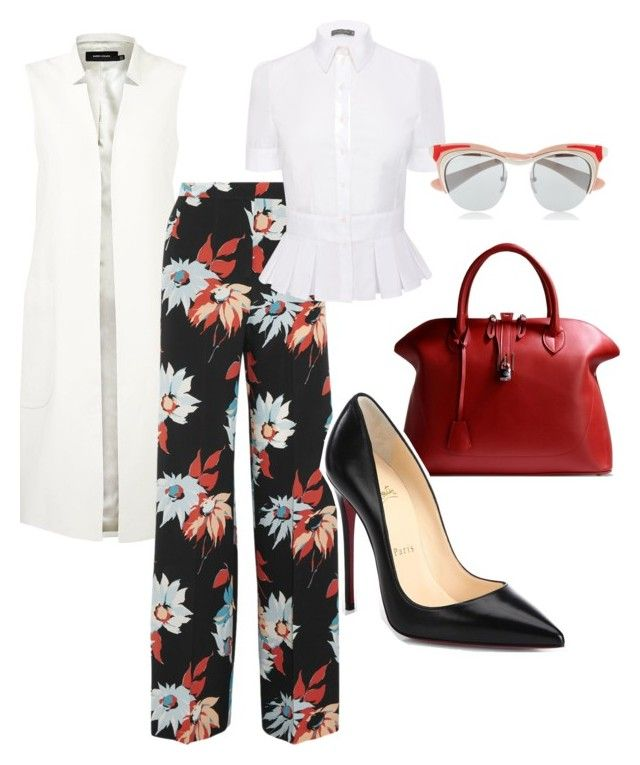 """""""The Floral Pant..."""" by la-harrell-styling-co on Polyvore featuring Karen Millen, Etro, Alexander McQueen, Prada, Golden Goose and Christian Louboutin"""