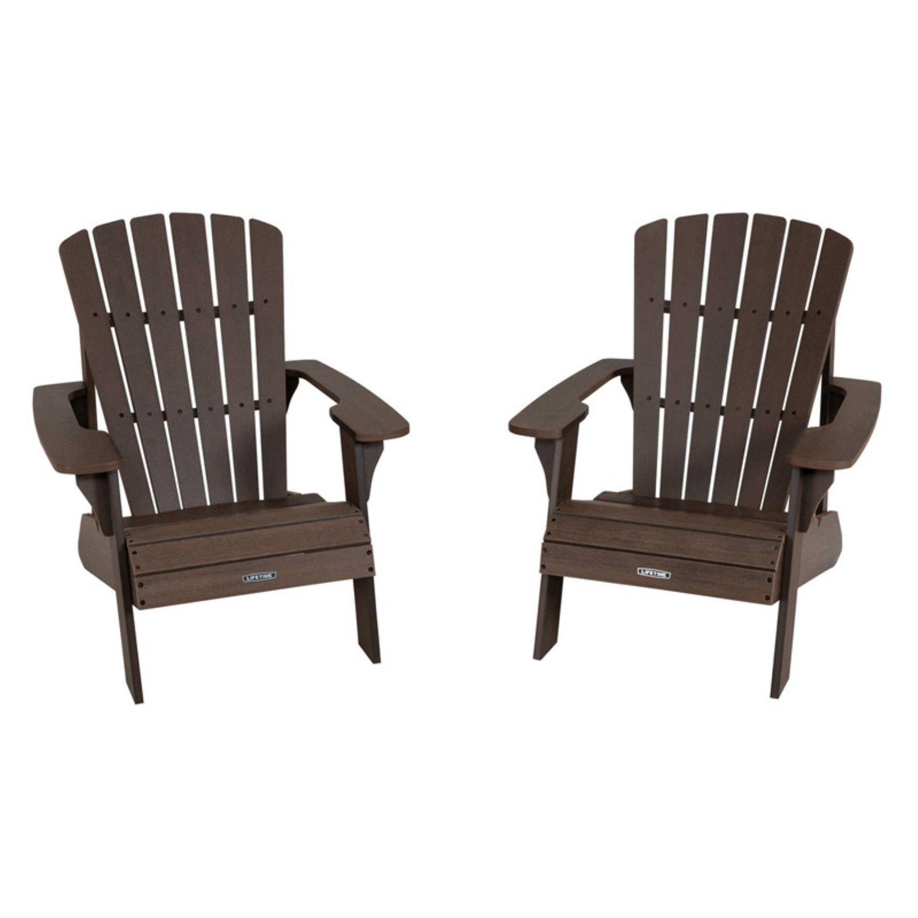 Outdoor Lifetime Adirondack Chair Brown Adirondack Chair
