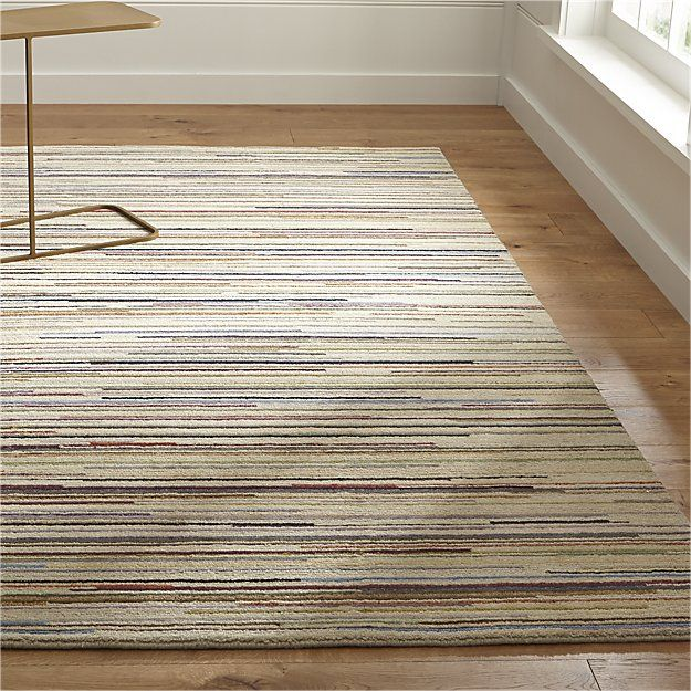 Wool Rug 10 X14 Pencil Thin Stripes