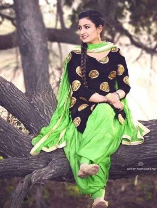 ♡ Punjabi suits pinterest: @nivetas | black Indian Outfits | Pinterest