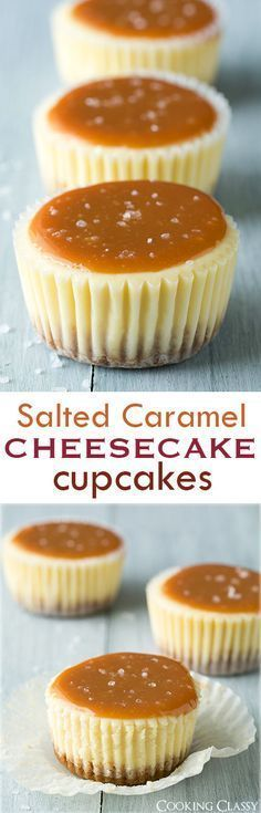 Salted Caramel Cheesecake Cupcakes - these are one of my favorite desserts! Always a hit! Caramel Cheesecake Cupcakes - these are one of my favorite desserts! Always a hit!