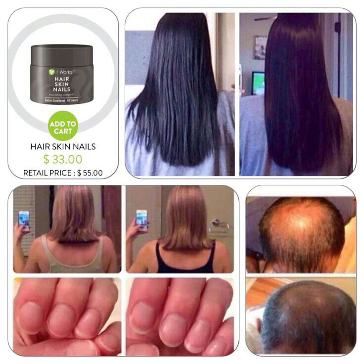 Hair Skin Nails Supplement from It Works Global Make hair grow ...