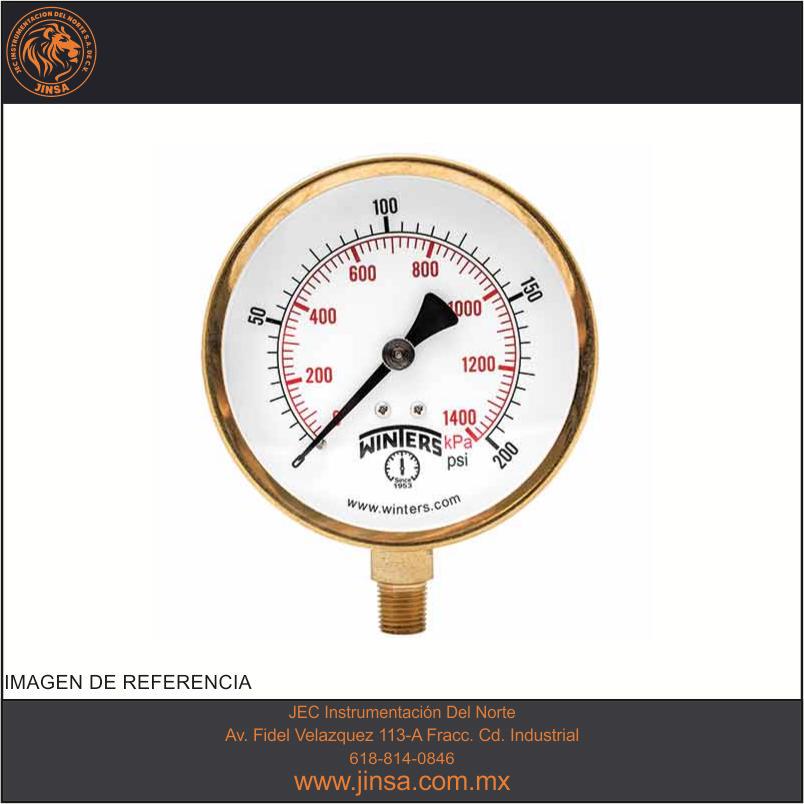 Rango del medidor de presión