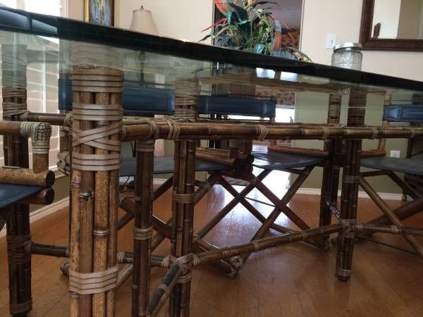 Vintage Mid Century McGuire Bamboo Dr Conference Table W Original - Ebay conference table