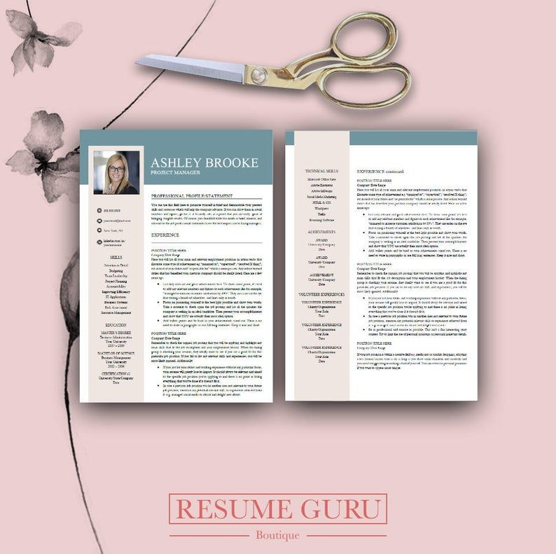 Professional resume template for word pages resume