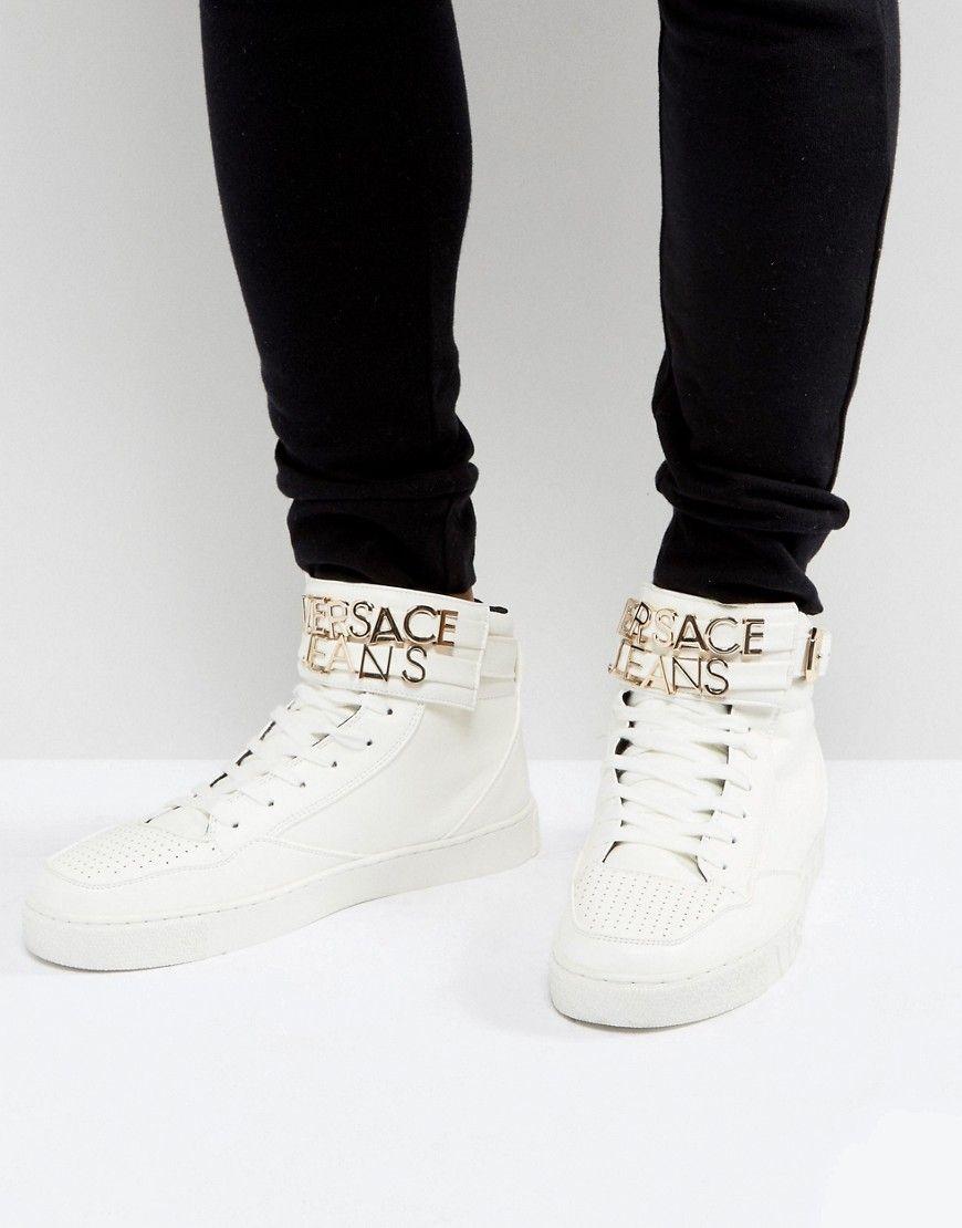 Jeans Versace-hauts Sommets Et Baskets Mj25DVcTS