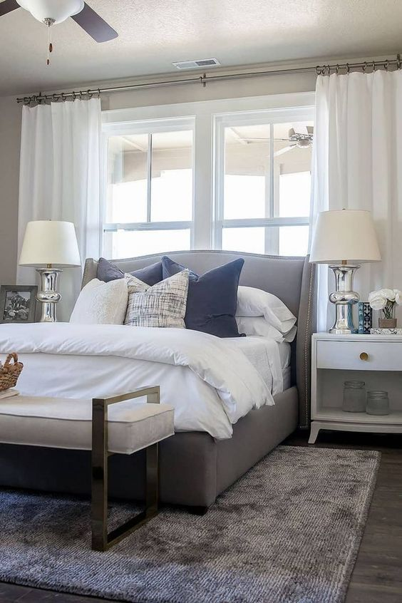 50 ideas for placing a bed in front of a window small on bedroom furniture design small rooms id=97635