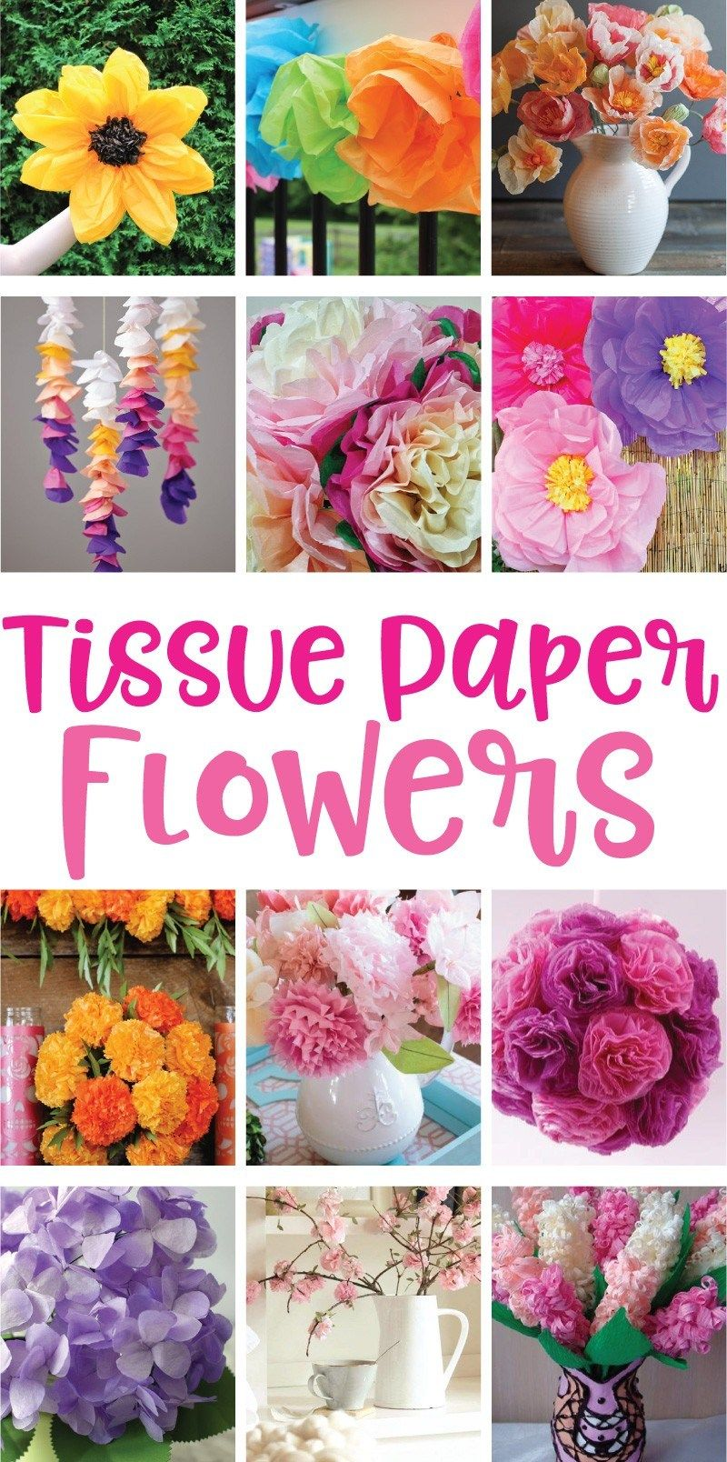 12 Tissue Paper Flowers That Are Easy To Make On Pinterest