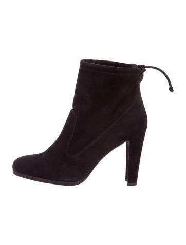 Stuart Weitzman Semi-Pointed Leather Ankle Boots discounts for sale 5Z6n9HvMxc