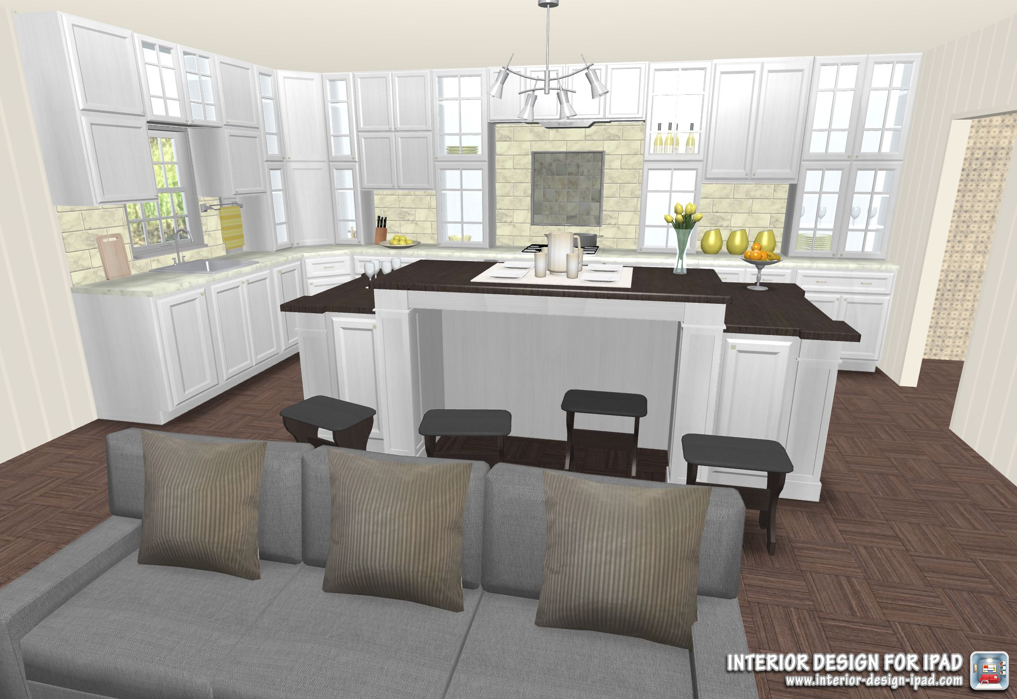 check out this open kitchen design with the interior design for ipad app free kitchen design on kitchen remodel apps id=67042