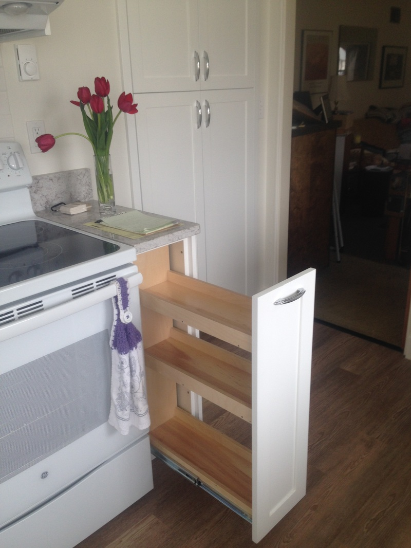 Kitchen: 9 Inch Cabinet Pull Out | Sliding Spice Rack ...