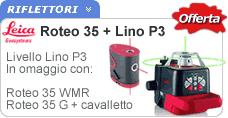 Livello laser Roteo 35 raggio verde + Lino P3. Livello Roteo 35G grazie al raggio verde garantisce maggior visibilità anche in condizioni di grande luminosità o su lunghe distanze.  http://www.ferramentaonline.com/shop/advanced/Livella_laser_verde_Roteo_35G_con_cavalletto_e_LINO_P3-ska1080184.html