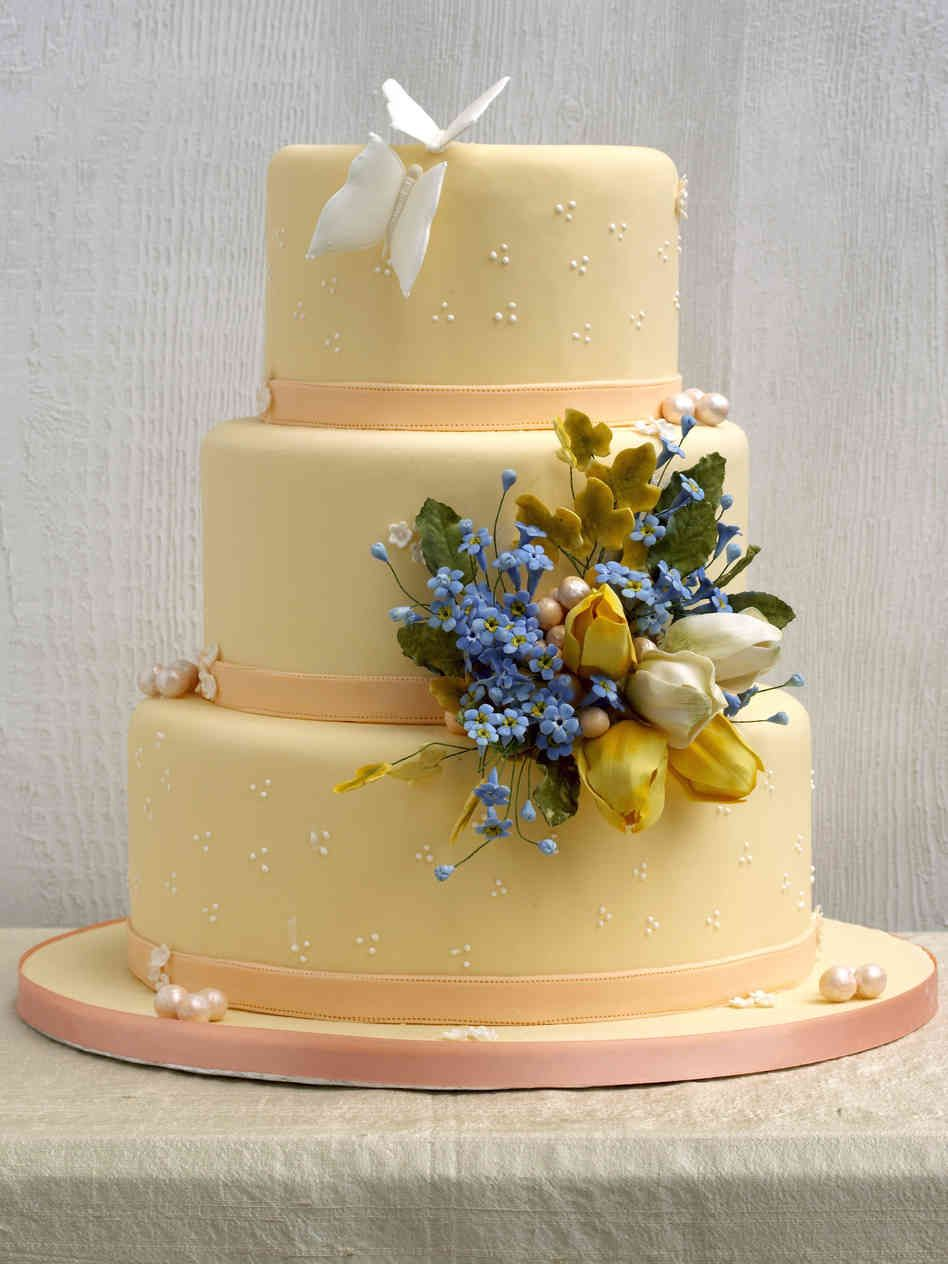 The Flooded Butterfly and Closed Tulip Cake as graphic in Wedding ...
