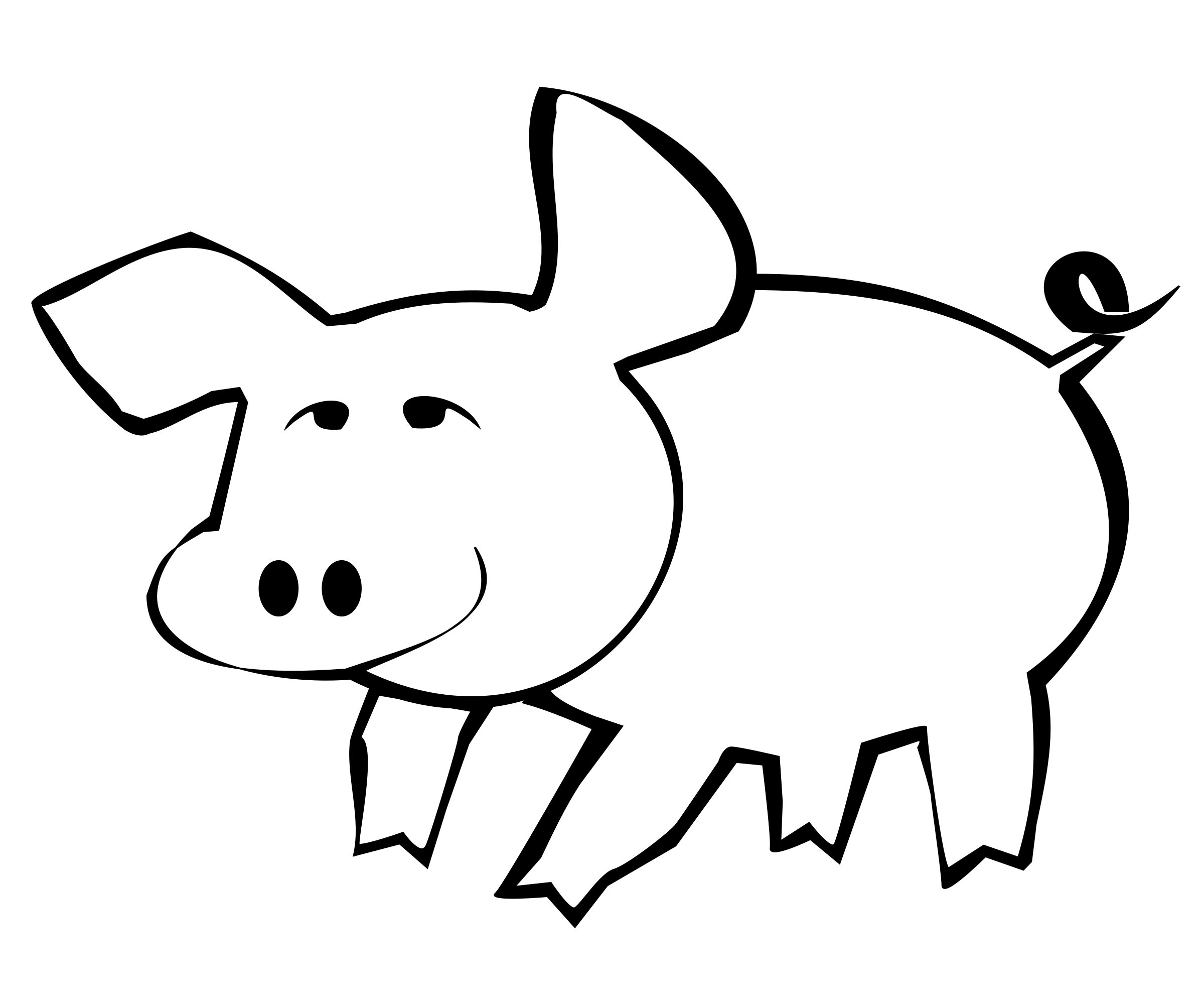 Pig Outline Pig Outline By Yamachem