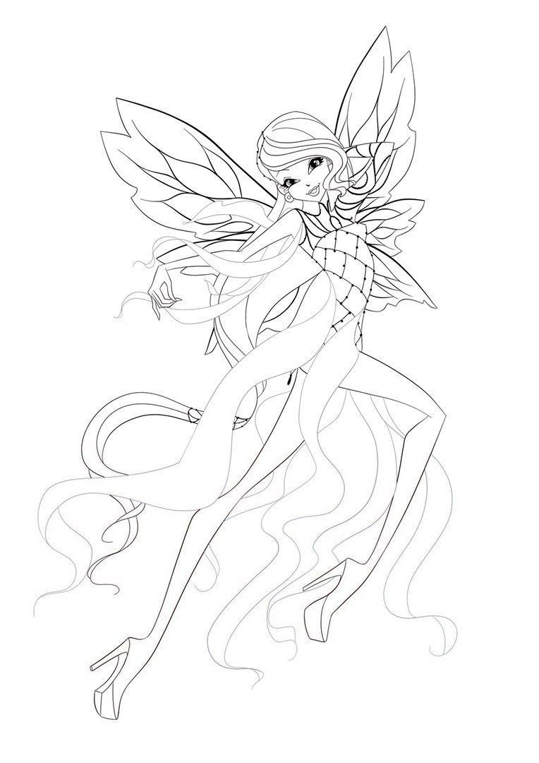 Pin Van Sirenix Winx Op World Of Winx Bloom Colouring Pages En