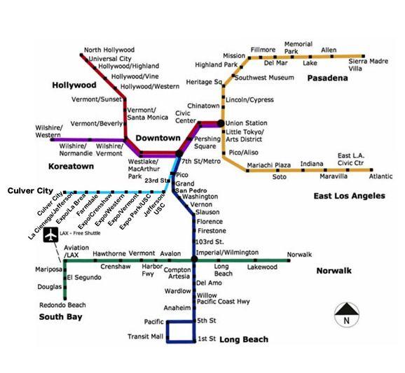 Santa Monica Subway Map.Goldline East L A Subway Station Map Of Los Angeles Metro Rail