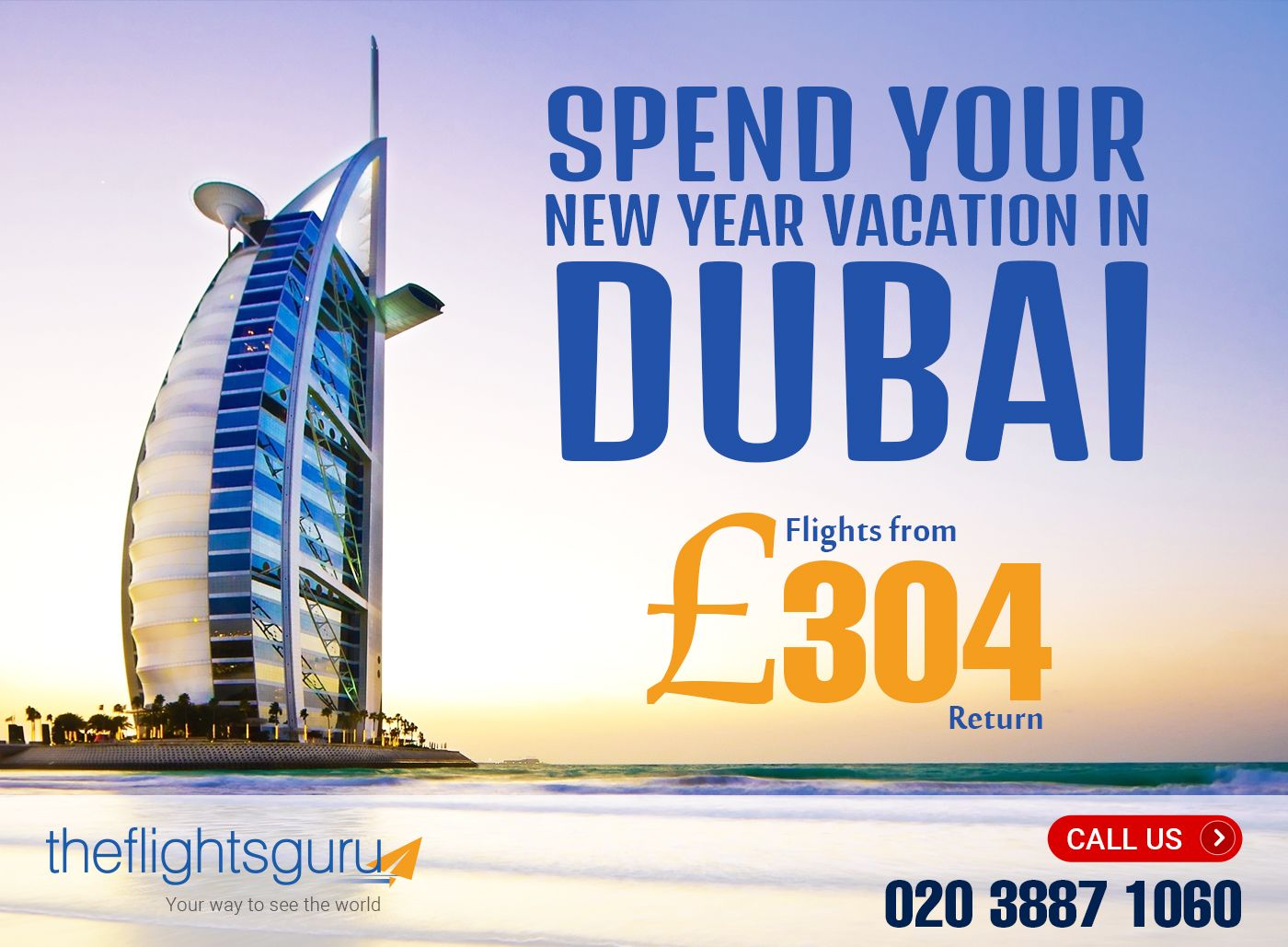 New Year has started Book your flight and hotel to Dubai
