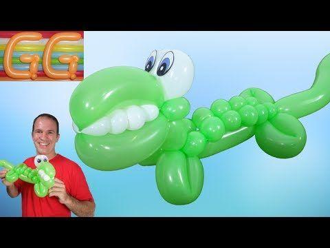 como hacer un cocodrilo con globos largos globoflexia figuras con