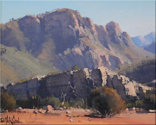 John Wilson Australian Landscape Oil Paintings Blue Mountains Artist Oil Painting Landscape Landscape Paintings Landscape