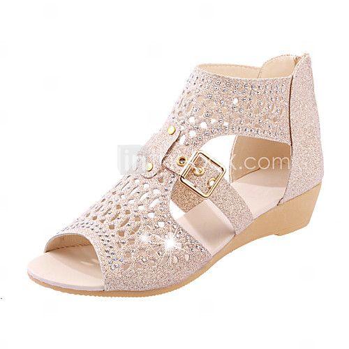 39 EU 24 Horas 23585 Zapatos plateado de verano Tacón de cuña de punta redonda oficinas para mujer  41.5 EU  Blanco (White Nappa 102) miW48qle