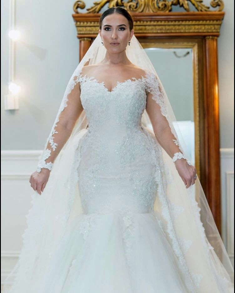 Affordable Custom Plus Size Wedding Gowns from the USA in ...