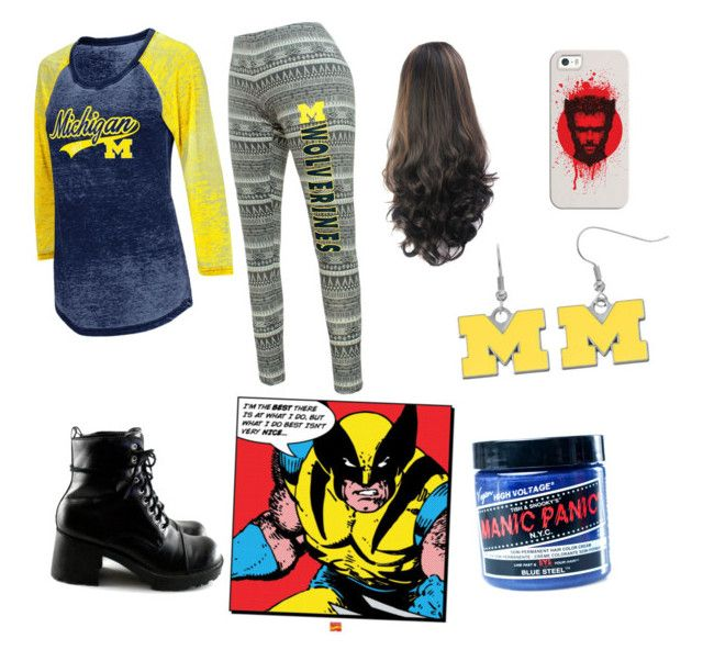 """Wolverine"" by justsoraya ❤ liked on Polyvore featuring Casetify, Campus Heritage and Manic Panic NYC"