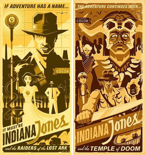 Indiana Jones Retro Style Vintage Posters Vintage Disney Posters Retro Poster Lovely Poster
