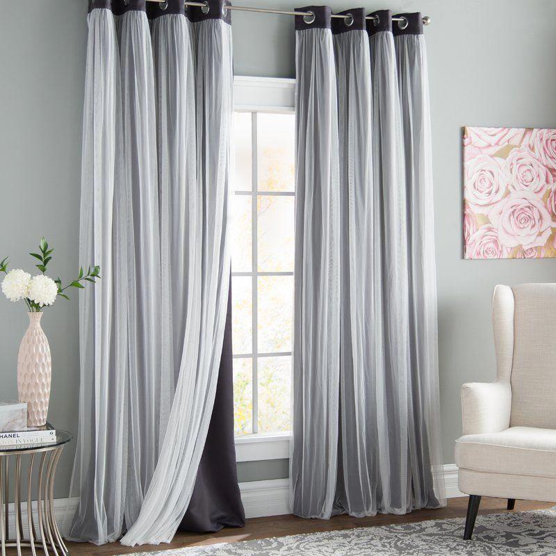 Brockham Solid Blackout Grommet Curtain Panels Reviews Joss