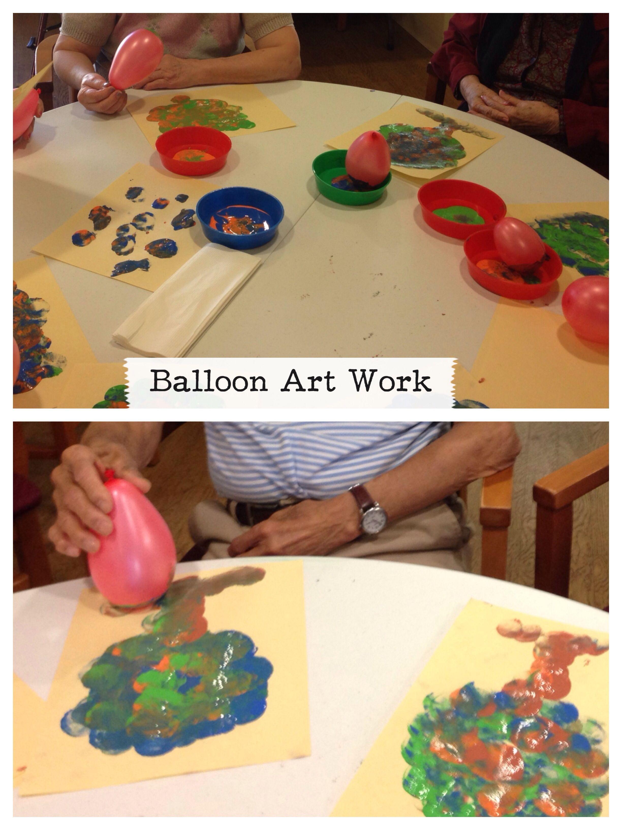 Paint Art using Balloon instead of brush Balloon art