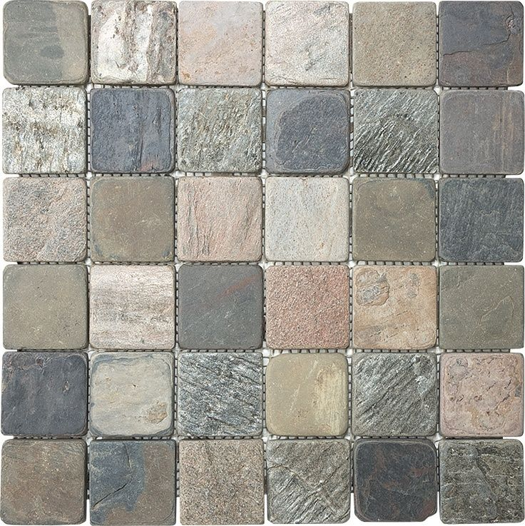 Slate Tile 2x2 Multi Color Slate Tile Mosaics Pinterest
