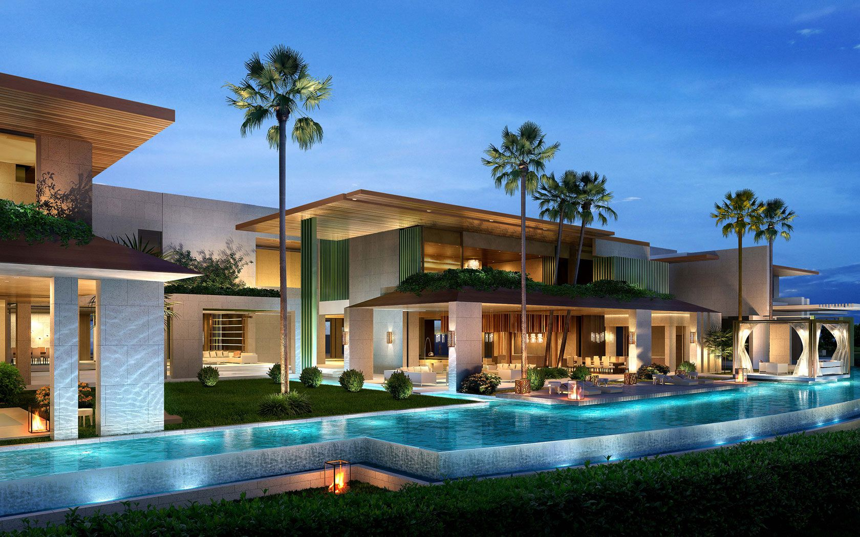 Emirates Hills, Dubai, Saota Architects Luxury modern
