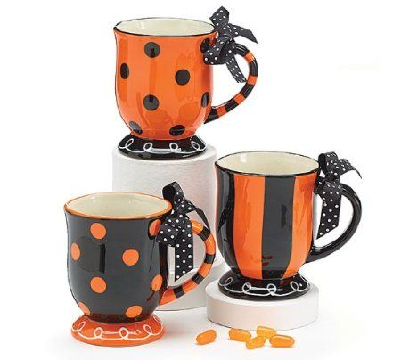 Amazoncom Halloween Polka Dot Stripe Coffee Tea Drink