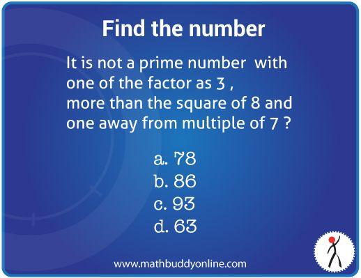 Math Riddle - Find the number | Math Puzzles | Pinterest | Math ...