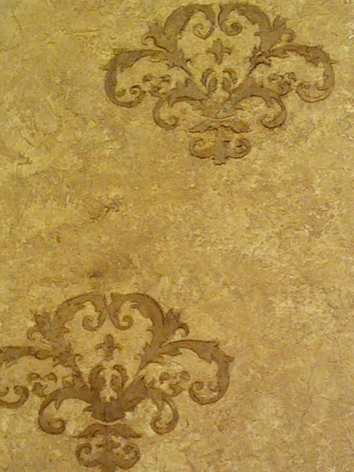 Old World Textured Finish With Raised Stencil By Atlanta
