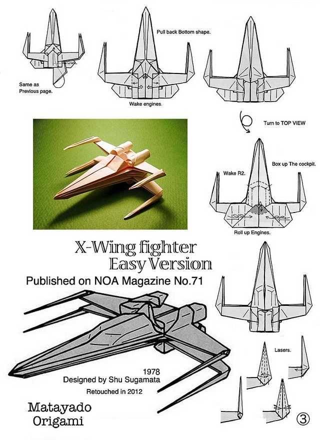 Photo of Star Wars Origami Seiten 2 & 3