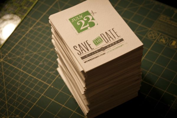 Screen Printed Wedding Invitations by Peter Rodick, via Behance