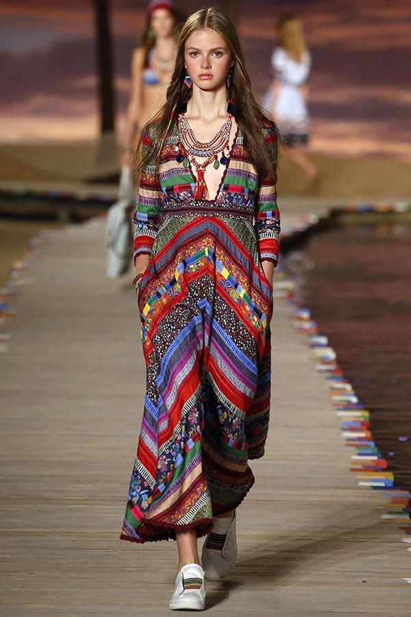 Tommy Hilfiger İlkbahar Yaz 2016: Çizgili, Renkli ve Bohem  Spring & Summer 2016 Bohemian Fashion @laleliworld