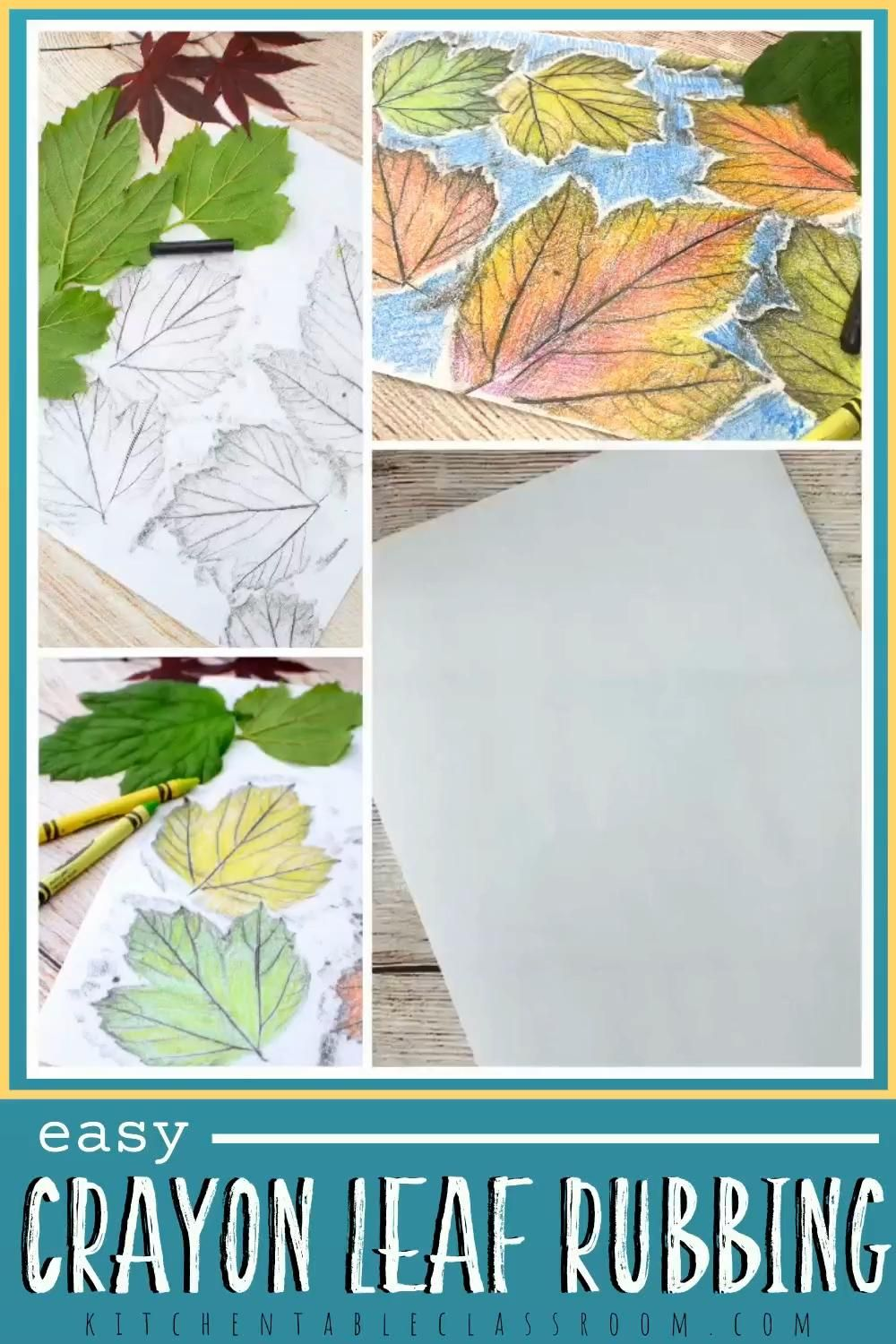 Easy Crayon Leaf Rubbing for Kids