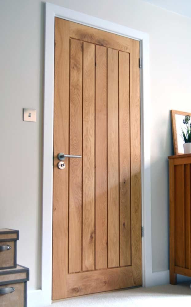 Wooden Internal Doors With: Mexicano Contemporary Solid Oak Door
