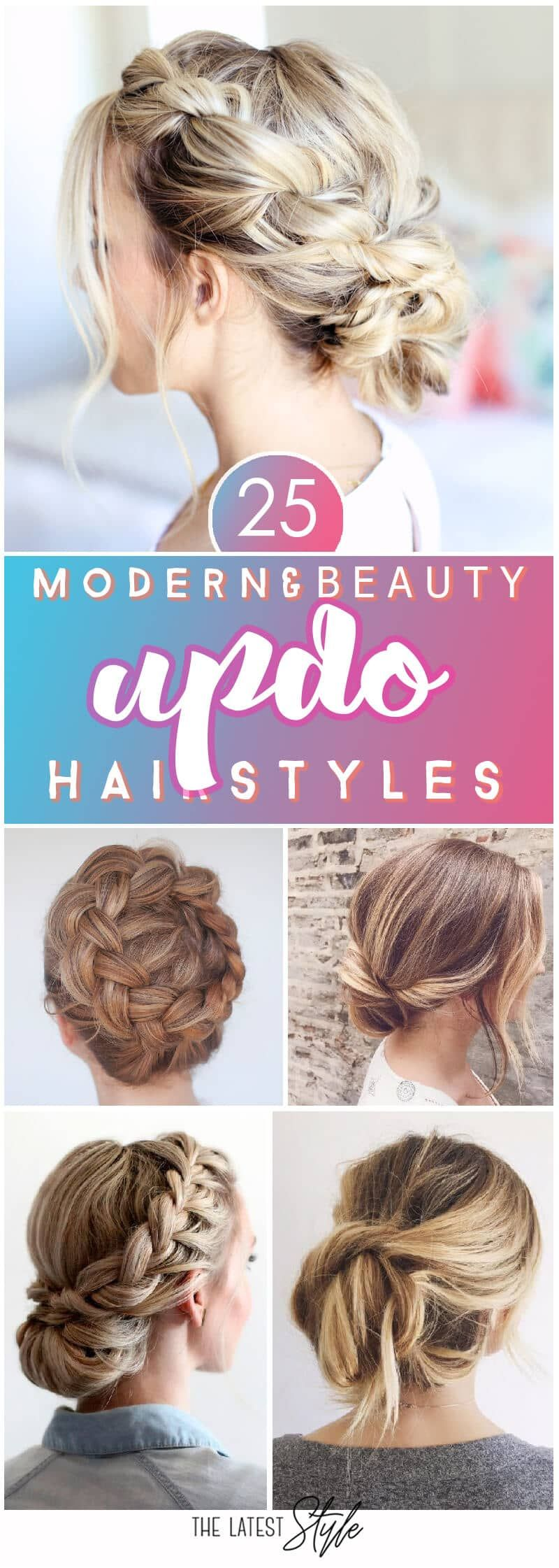 Modern and Beautiful Updos for Long Hair Wedding hair dos
