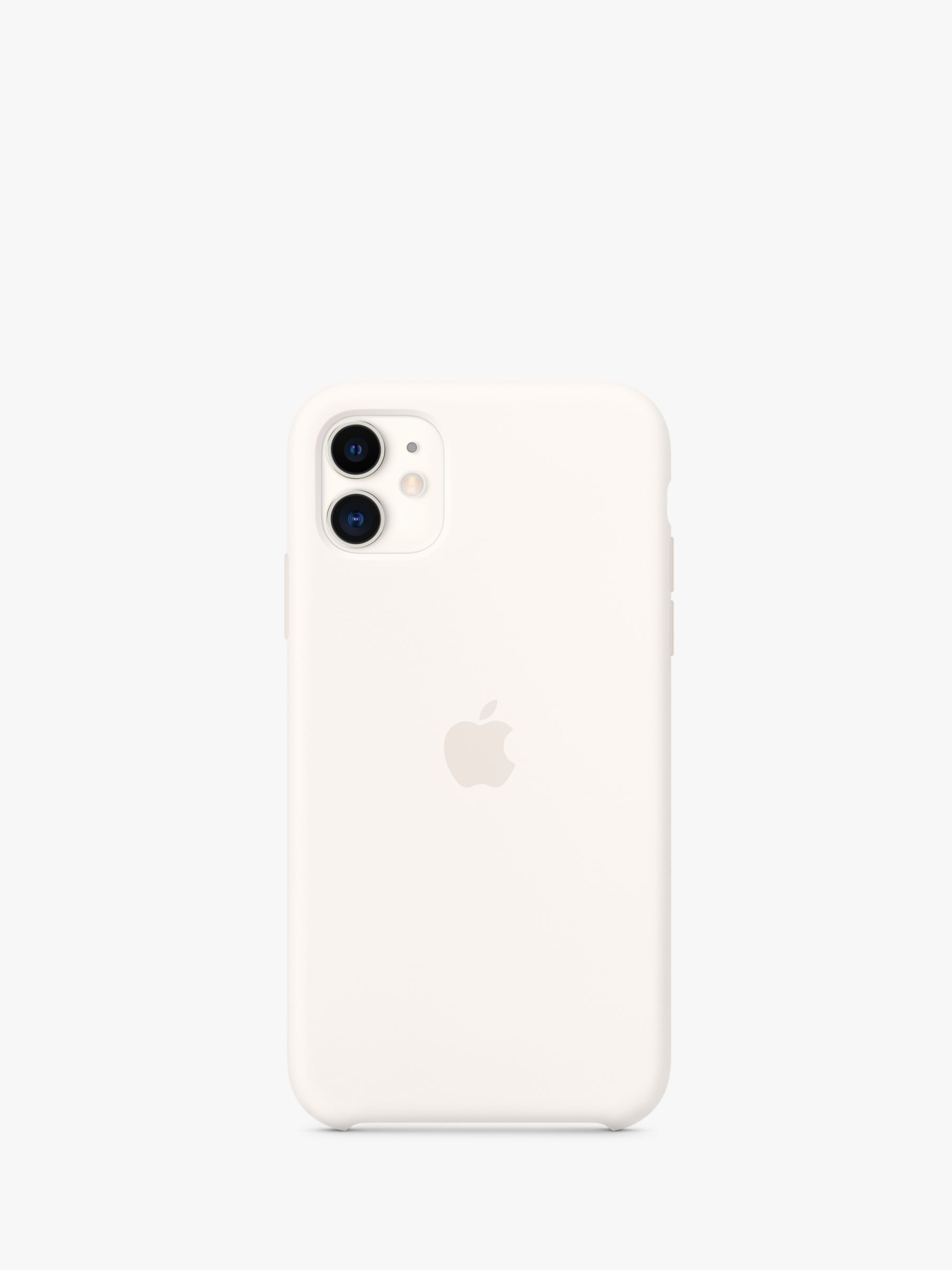 Apple silicone case for iphone 11 white in 2020 iphone