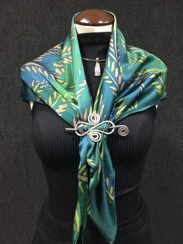 64e920616 Fern Garden - Hand Painted Silk Scarf | Silk Painting | Embroidery ...