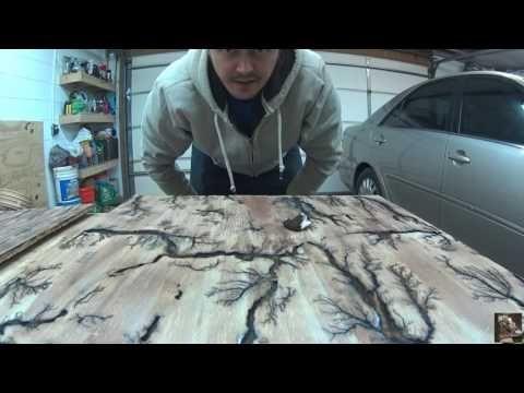 Larger Fractal Burn On Half Inch Pine - Detailed