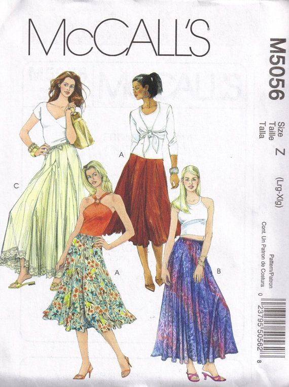 McCalls 5056 Boho Hippie Maxi Skirt Sewing by PeoplePackages