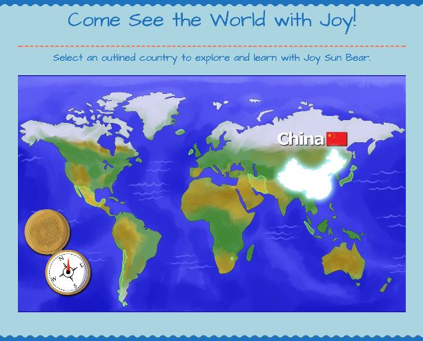 Kids and students can explore our interactive world map to visit the