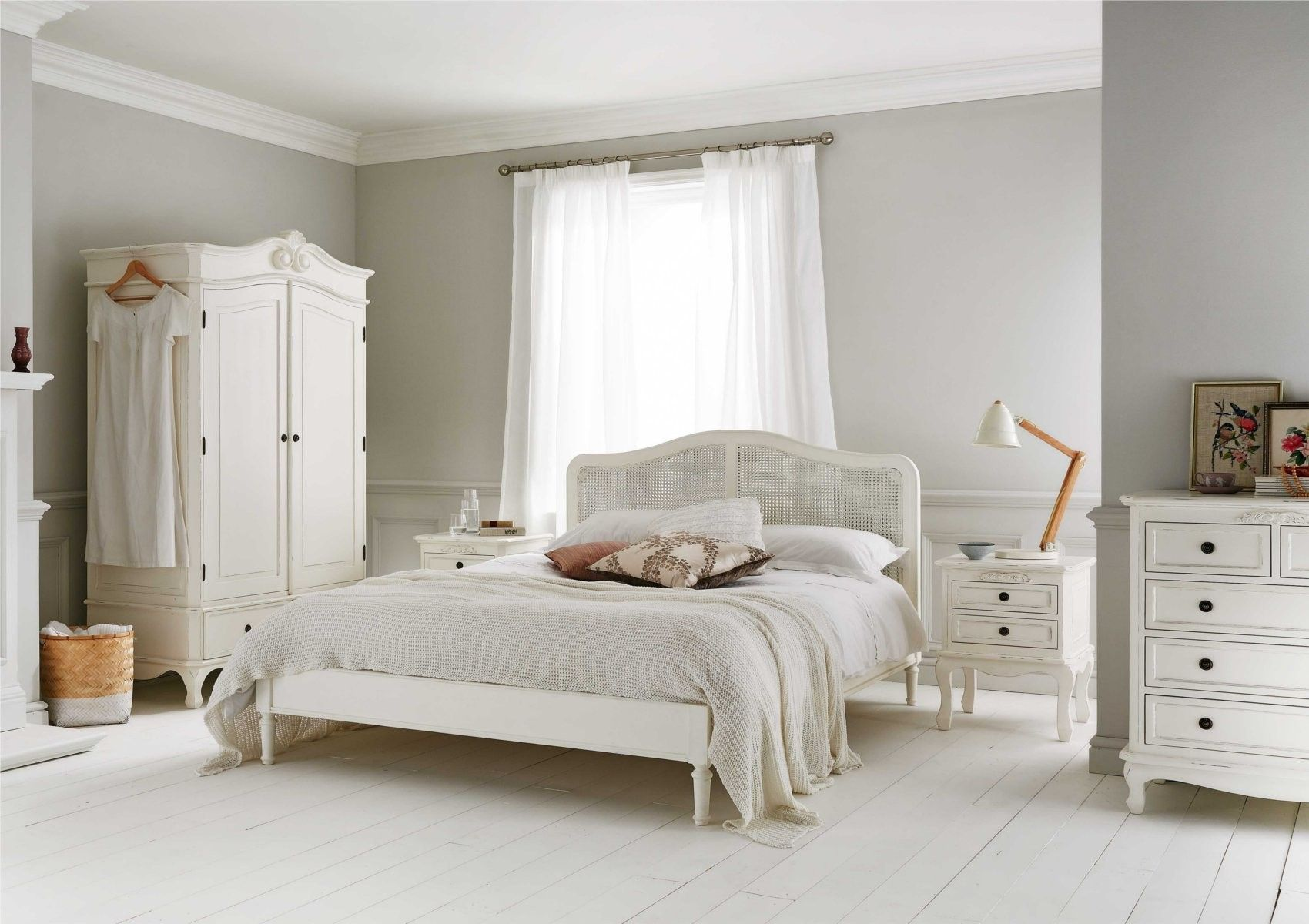 Liberty Rattan Wooden Bed Frame White Wooden Bed Rattan Bed