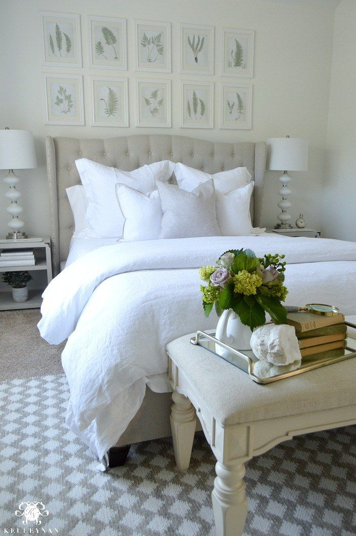 Guest Bedroom Reveal The White Room Above Bed Decor Romantic Bedroom Decor Guest Bedroom